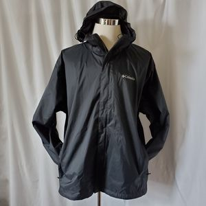 Columbia Men's Nylon Hooded Jacket Black Full Zip